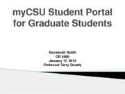 RSmith Unit IV myCSU Student Portal for Graduate Students