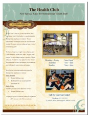Health Club Flyer Example