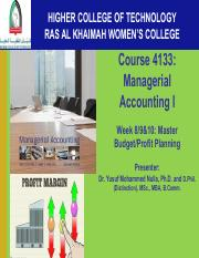 Dr. Nulla Week 9&10 Managerial Accounting(2)