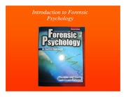 "Module 1: Chapter 1 ""Introduction to Forensic Psychology"