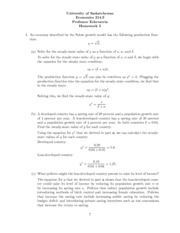 Econ 214-Homework #5-with answers