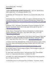 Working Bibliography - Mississippi.docx