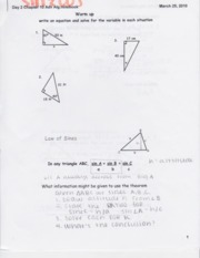 Notes on Sine and Cosine notes 3.25.10