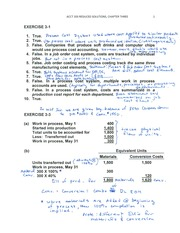 ACCT 203 Chapter Three Reduced Solutions Annotated