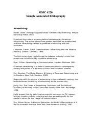 MMC-4420-Sample-Annotated-Bibliography
