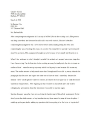 Eng 201 - Asgnt 3 Cover Letter