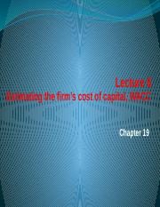 Lecture 6 Estimating the firm's cost of capital, WACC.pptx