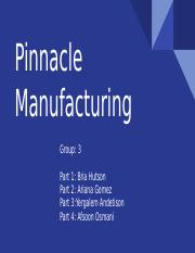 pinnacle manufacturing part 2