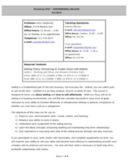 Syllabus MARK 3337 Fall 2013