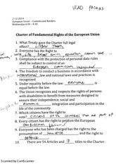 Charter of Fundamental Rights of EU