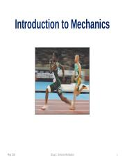 2.1 Phys 31N -- Introduction to Mechanics