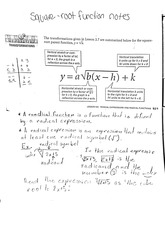 math classnotes: Square roots