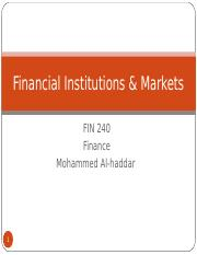 ch.2 FIN 240 Financial Institutions & Markets.ppt