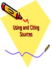 Using and Citing Sources workshop.ppt