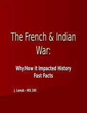 The French & Indian War.ppt