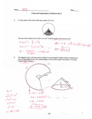 Circles and Trig Test Review Day 2