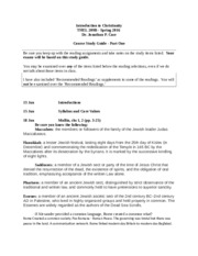 Intro to Christianity Course Study Guide I.docx
