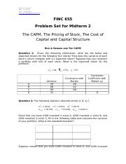 3. Problem Set for the Second Midterm