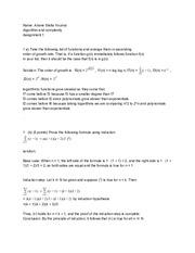 Algorithms homework help