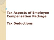 5. 6 Employee compensation package, tax deductions