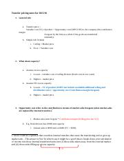 Transfer Pricing Questions Practice2