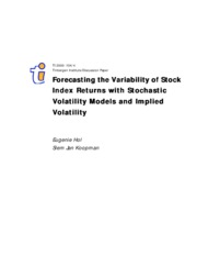 Forecasting the Variability of Stock Index Returns with Stochastic Volatility Models and Implied Vol