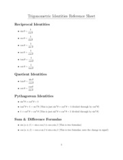 Trigonometric-Identities-Reference-Sheet-II