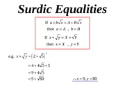 05 surdic equalities