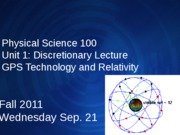 Discretionary Lecture - GPS Technology and Relativity