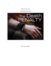 Death Penalty Term Paper