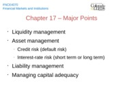 Chapter 17 - Major Points