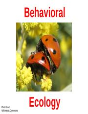 Lecture8_BehavioralEcology_Fall2014