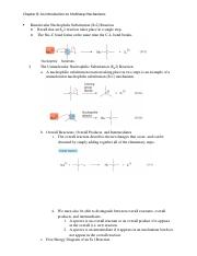 Chapter 8-Bimolecular Nucleophilic Substitution