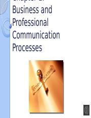 Ch 1 Business & Professional Comm Processes w audio