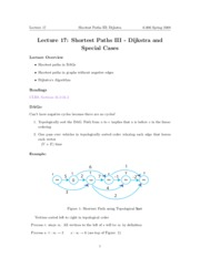 Shortest Paths III notes