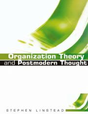 Organization Theory and Postmodern Thought.pdf