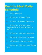 Kevin's Ideal Daily Schedule.docx