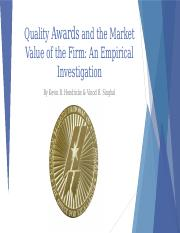 Quality Awards and the Market Value of the Firm.pptx