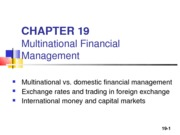 FINC 3310 Chapter 19 POWERPOINT