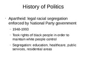 History of Politics South Africa
