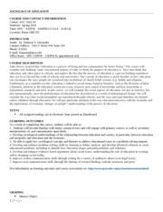 Sociology of Education Spring 2014 Syllabus (02)