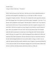 short story critique