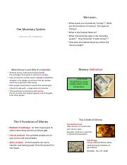 Chapter 16 Monetary System