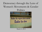 Democracy through the Lens of Women's Movements