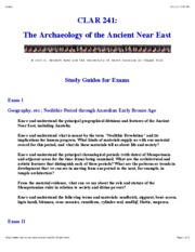 Archaeology Study Guide for Exams