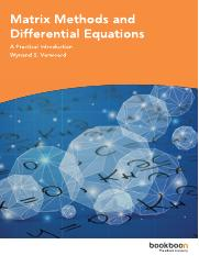 Matrix Methods and Differential Equations.pdf