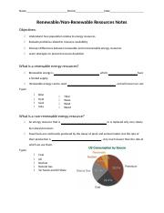 Renewable and Nonrenewable Energy Guided Notes Blank