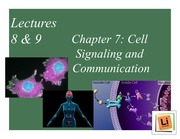 Lecture 8&9_Cell Signaling and Communication mark2