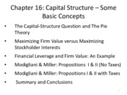 MGFC10_Chapter16_Capital Structure Basic Concepts