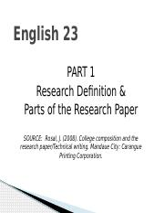 PART 1 research definition and parts of the research paper EDITED june 22, 2016.pptx